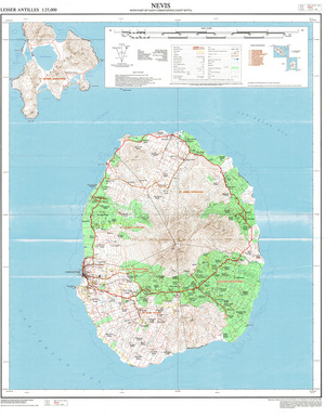 St Kitts & Nevis  1:25,000 : Charts and Maps, ONC and TPC Charts to