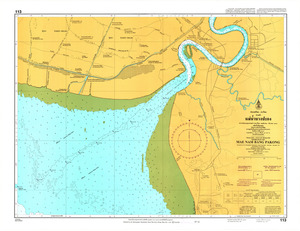 Thailand Nautical Chart: #113: Mae Nam Bang Pakong