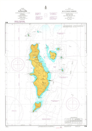Thailand Nautical Chart: #114: Ko Si Chang Harbour