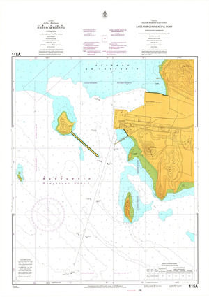 Thailand Nautical Chart: #115A: Sattahip Port