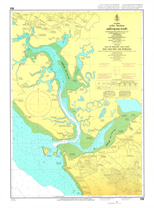 Thailand Nautical Chart: #119: Mae Nam Wen