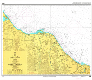 Thailand Nautical Chart: #206