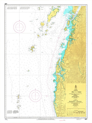 Thailand Nautical Chart: #307: Phanghga Ranong