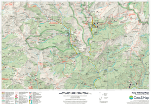 Italy Hiking Map