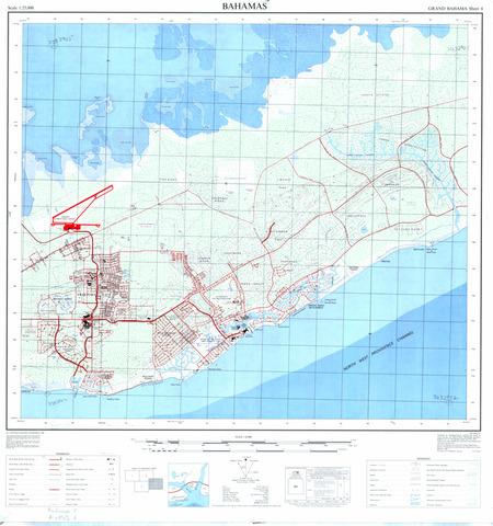 Bahamas - Grand Bahama #4 - $20.00 : Charts and Maps, ONC ...
