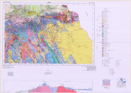 Ethiopia Thematic: Geological Map of Harar - $20 00 : Charts