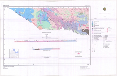 Ethiopia Thematic: Geological Map of Sololo - $20 00
