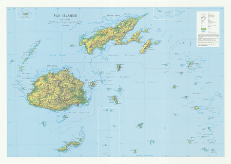 Fiji Islands Overview 1 750 000 20 00 Charts And Maps