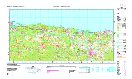 Jamaica #3: Falmouth - Browns Town - $20.00 : Charts and Maps, ONC ...