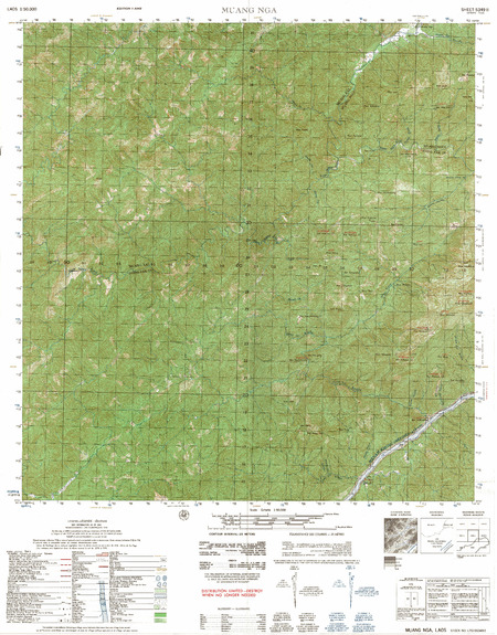 Laos #5349-2: Muang Nga - $20 00 : Charts and Maps, ONC and