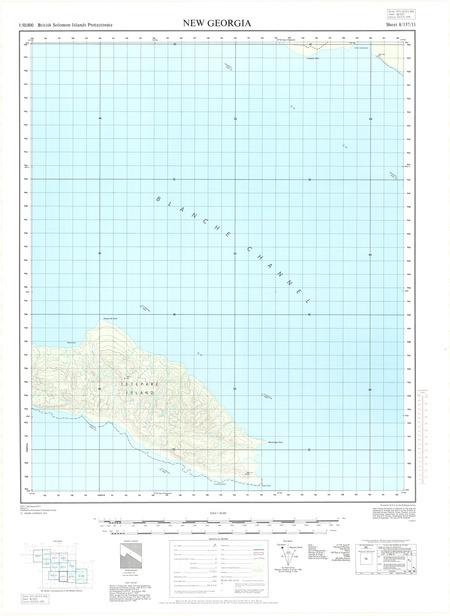 Solomon Islands #08-157-11: Tetepare Is  - $20 00 : Charts
